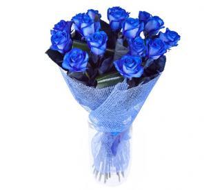 Букет из синих роз №330