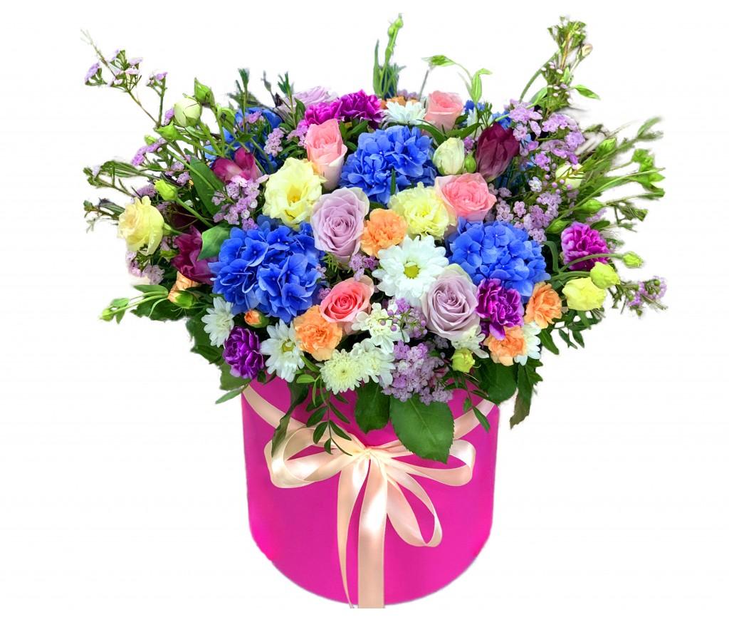Цветы в коробке №348