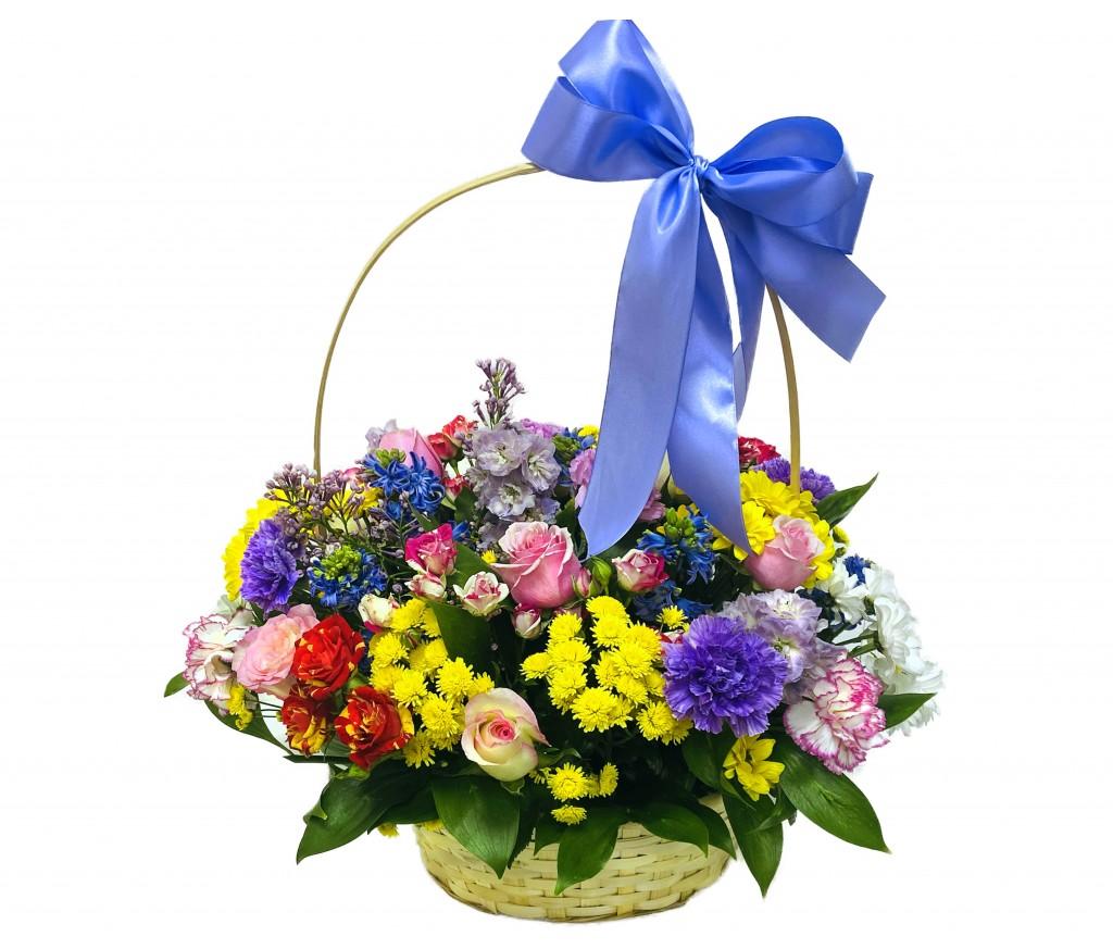 Корзина цветов №413