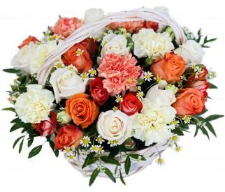 Корзина цветов № 415