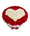 композиция из роз сердцем №158