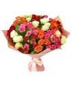 Букет кустовых роз №082
