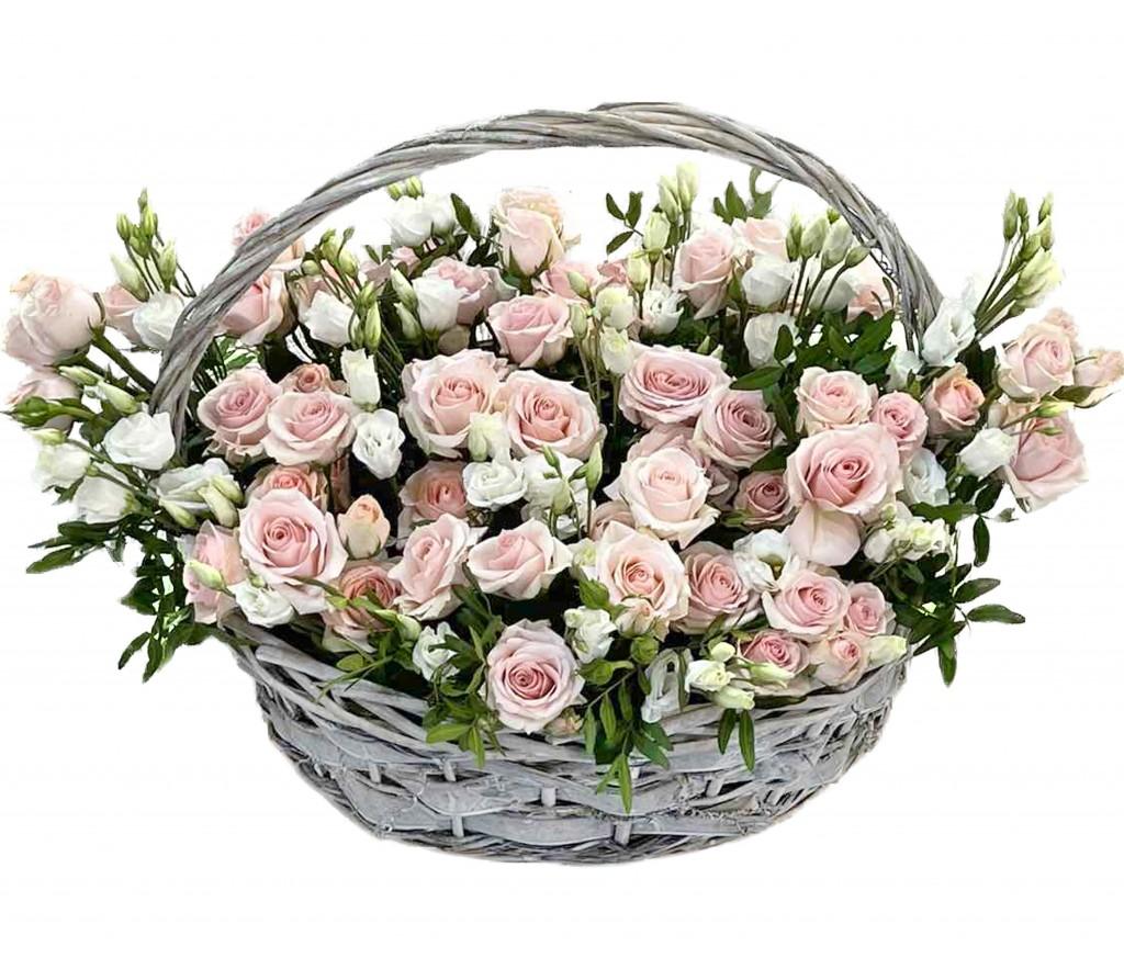 Корзина роз № 414