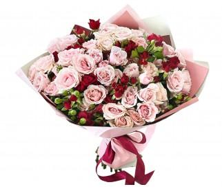 Букет кустовых роз №356