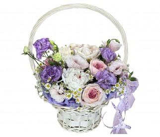 Корзина цветов № 357