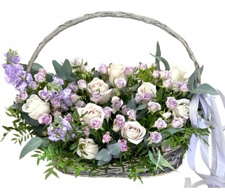 Корзина цветов №089