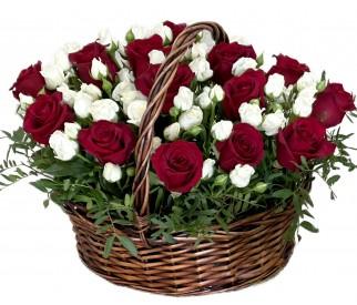 Корзина роз № 95