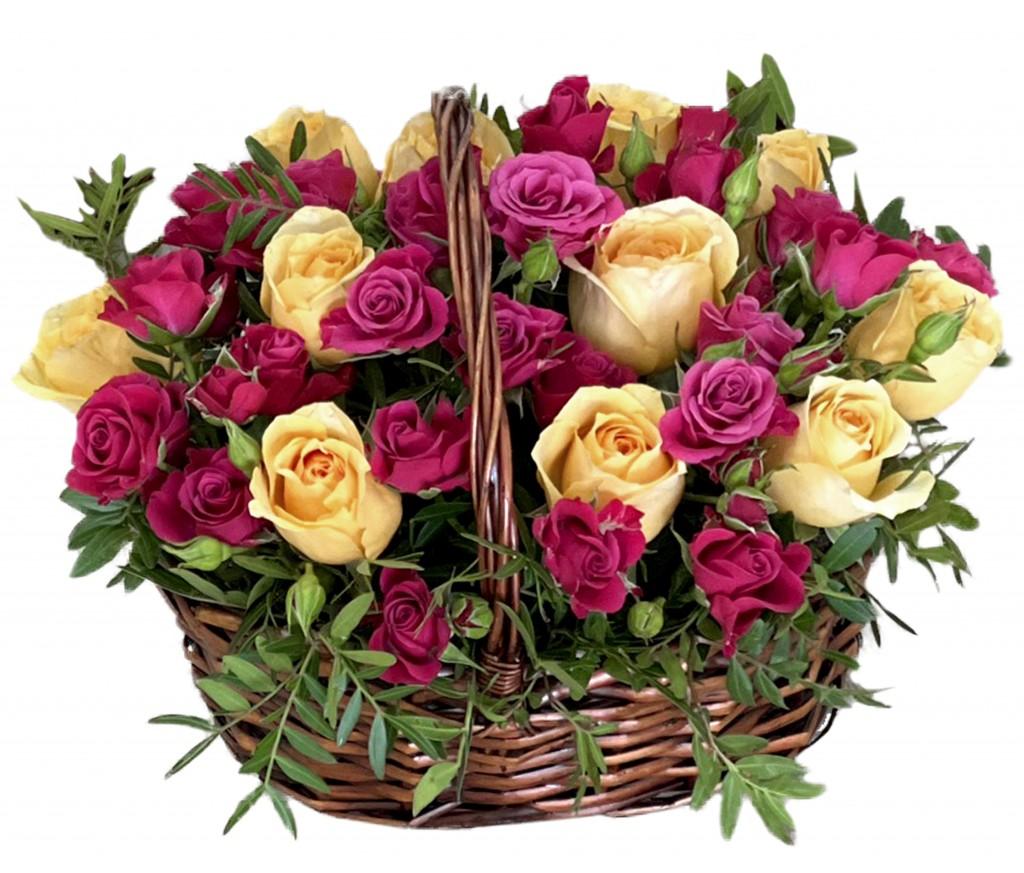 Корзина цветов №405