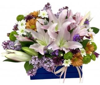 цветы в коробке № 407