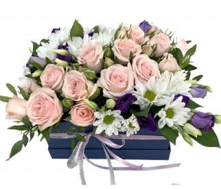 цветы в коробке № 418