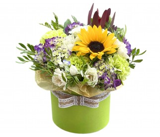 Цветы в коробке № 419