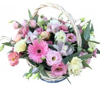 Корзина цветов № 430