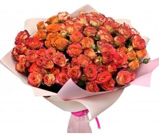 Букет кустовых роз № 436