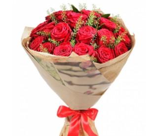 Букет красных роз № 410