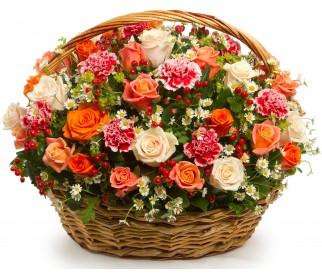Корзина цветов №220