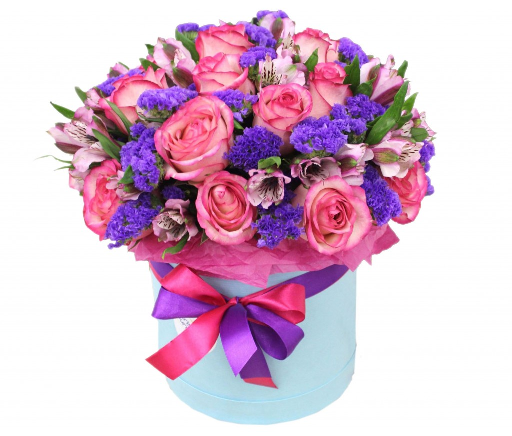 Цветы в шляпной коробке №225