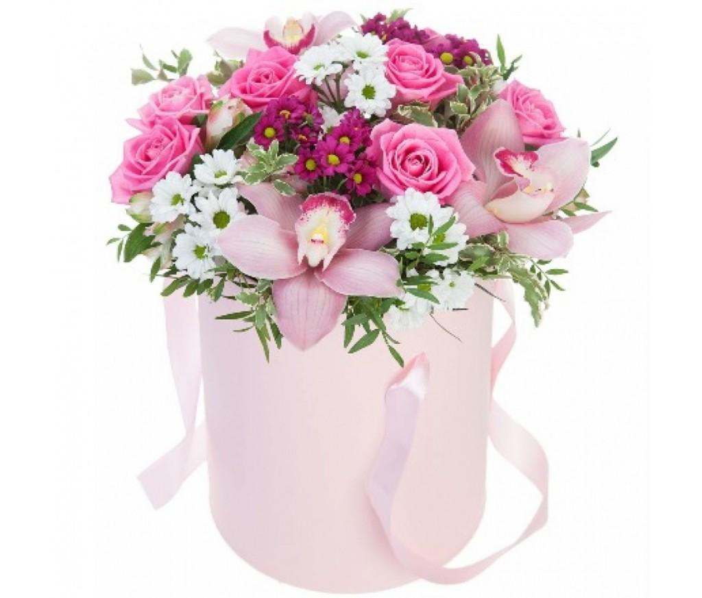 Цветы в коробке №332