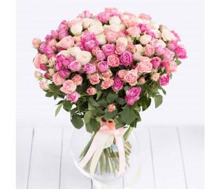 Букет из кустовых роз № 018