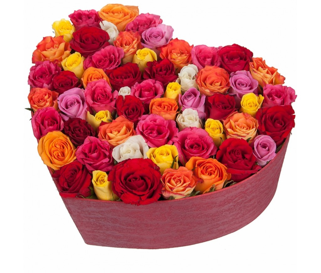 Розы в коробке  № 072