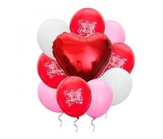 Букет шаров 'Это любовь'