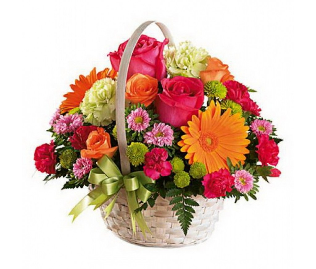 Корзина цветов №712