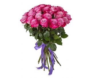 Букет розовых роз №122