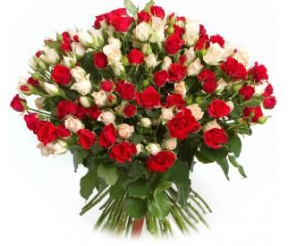 Букет кустовых роз №331