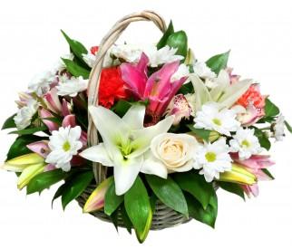Корзина цветов №346