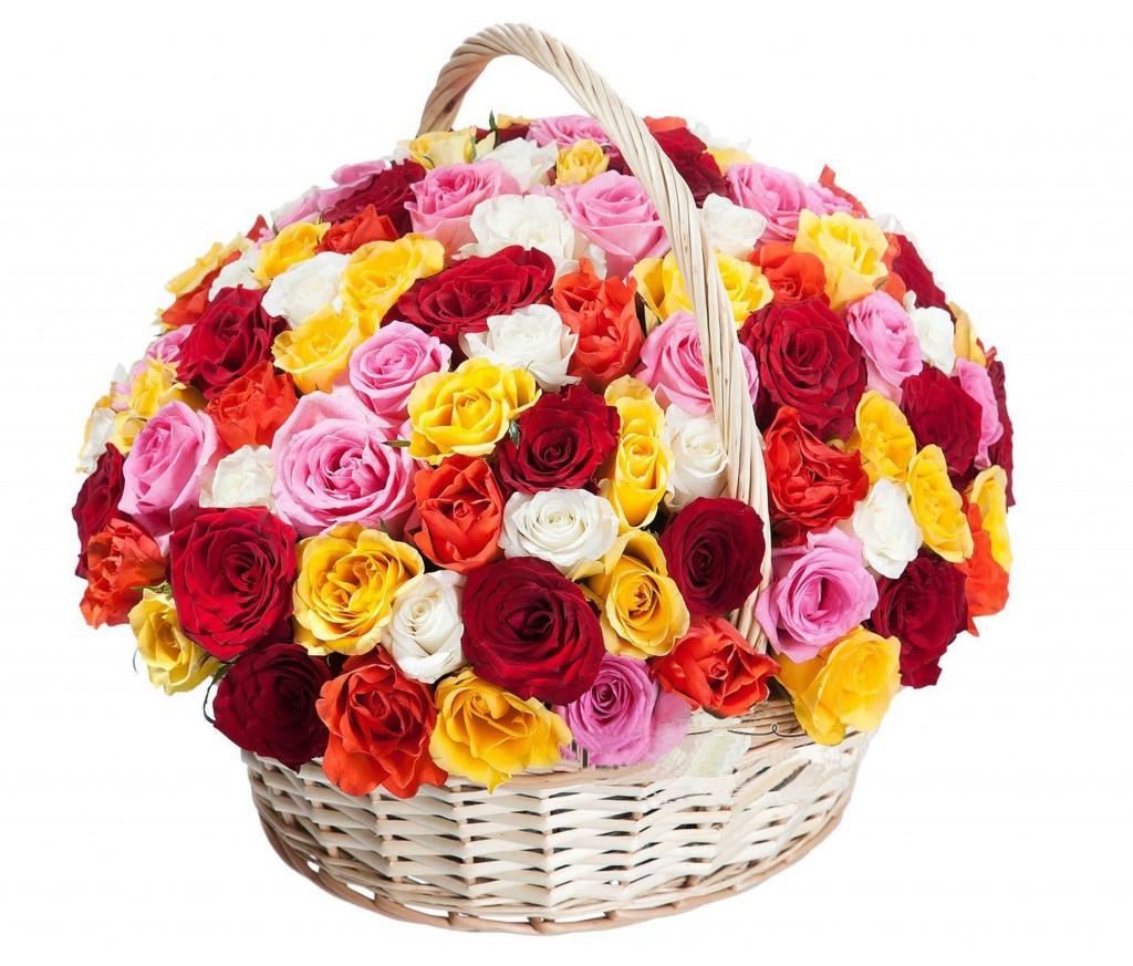 Корзина цветов №226