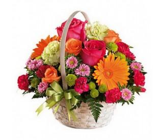 Корзина цветов №282